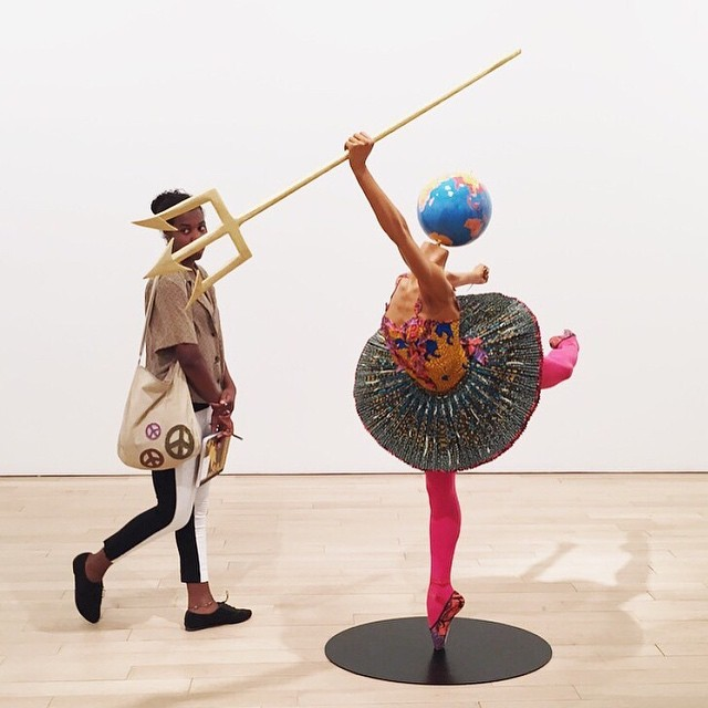 11. A dramatic moment while viewing the Yinka Shonibare exhibition at James Cohan Gallery in Chelsea.