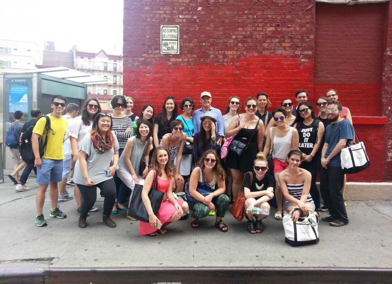 3. Students pause for a photo while visiting and learning the fascinating history of the Bowery neighborhood in downtown Manhattan.