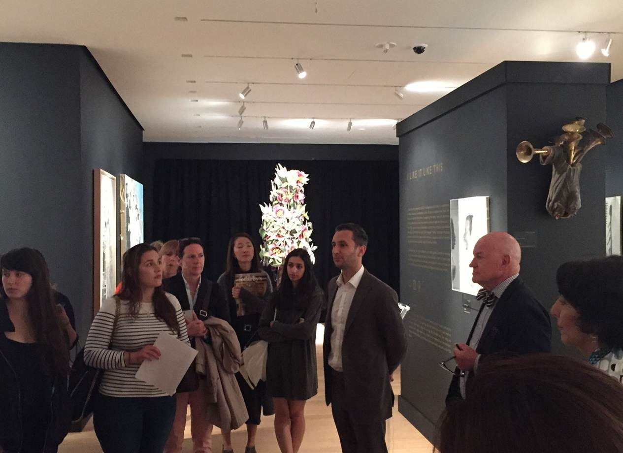 4. Joseph Carlucci, Senior Vice President, Head of Private Sales at Sotheby's Auction House, speaks to students in the S/2 private sales gallery.