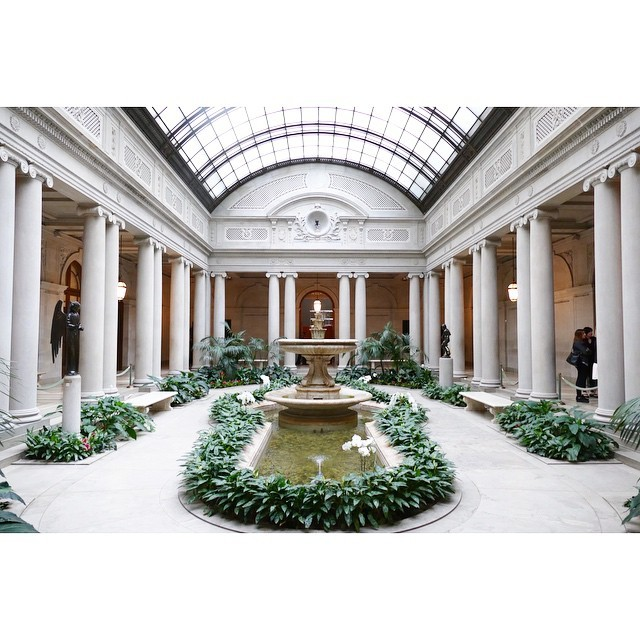 6. A serene view of the Garden Court at The Frick Collection.