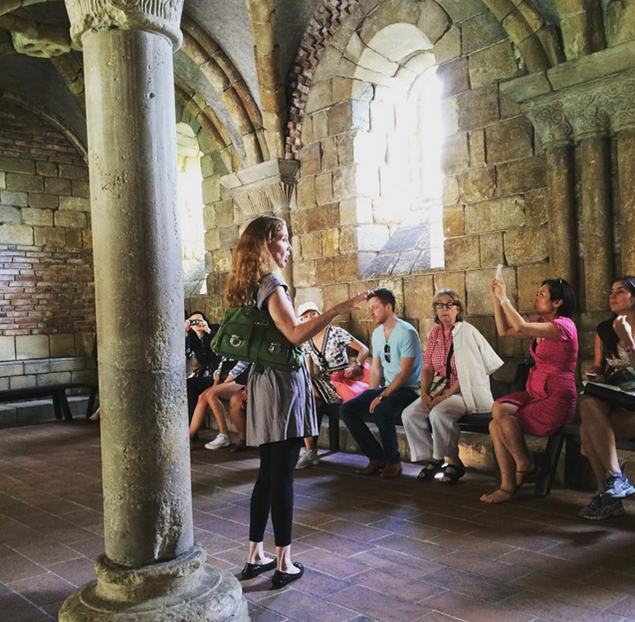 7. Experience Art History students explore the Cloisters museum of medieval art in upper Manhattan.