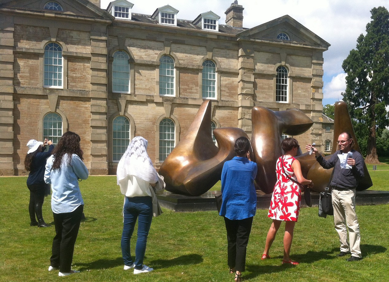 Art & its Markets: students enjoyed the sunshine and the Moore Rodin exhibition at Compton Verney