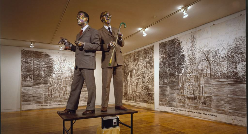 Gilbert & George, The Singing Sculpture, Sonnabend Gallery, New York, 1991 © 2017 Gilbert & George