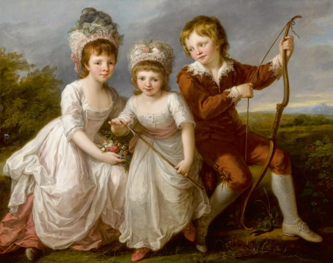 Lady Georgiana Spencer, Henrietta Spencer and George Viscount Althorp by Angelika Kauffmann